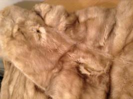 Short Mink Coat Sand Gold Extra Fur Hem on Sleeves No Tags Measurements Below image 6