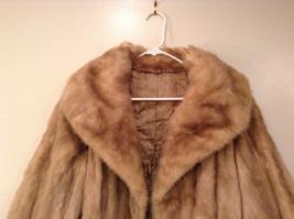 Short Mink Coat Sand Gold Extra Fur Hem on Sleeves No Tags Measurements Below image 3