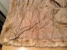 Short Mink Coat Sand Gold Extra Fur Hem on Sleeves No Tags Measurements Below image 9