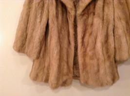 Short Mink Coat Sand Gold Extra Fur Hem on Sleeves No Tags Measurements Below image 4