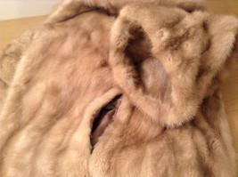 Short Mink Coat Sand Gold Extra Fur Hem on Sleeves No Tags Measurements Below image 8
