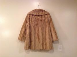 Short Mink Coat Sand Gold Extra Fur Hem on Sleeves No Tags Measurements Below image 2