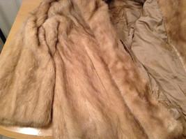 Short Mink Coat Sand Gold Extra Fur Hem on Sleeves No Tags Measurements Below image 10
