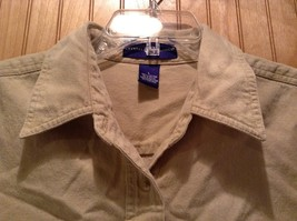 Short Sleeve Brown Crystal Springs Button Down Collared Shirt Size Large image 2