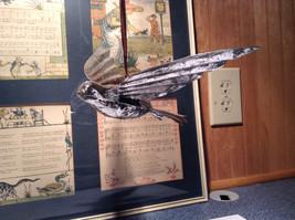 Silver Tone Bird Ornament Vintage Look image 2