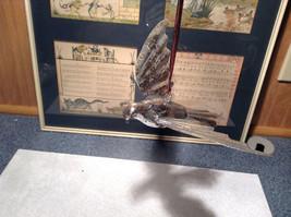 Silver Tone Bird Ornament Vintage Look image 3