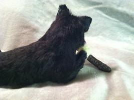 Siberian Husky chewing on stick - Dog Figurine - recycled rabbit fur image 7