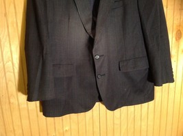 Signals Donald Brooks Black Sport Coat All Virgin Wool Made in USA No Size Tag image 3