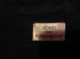 Signals Donald Brooks Black Sport Coat All Virgin Wool Made in USA No Size Tag image 7