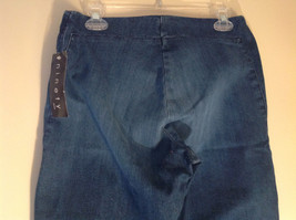 Side Closure Wide Leg Blue Jeans by Ninety Jeans Size 10 image 6