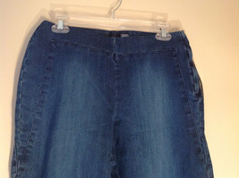 Side Closure Wide Leg Blue Jeans by Ninety Jeans Size 10 image 2