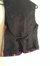 Sigrid Olsen Striped Red Orange Blue Black Short Sleeve Lined Vest Size M image 5