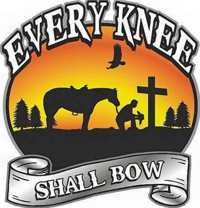 Every knee shall bow cross stitch pattern