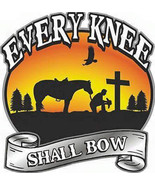 Every knee shall bow cross stitch pattern thumbtall