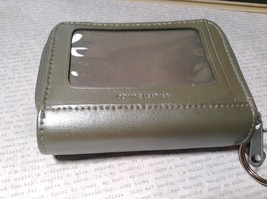 Silver Colored Genuine Leather Wallet with Clear and Front and 2 Zipper Pockets image 7