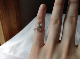 Silver Double Swirl Open and Adjustable Wire Toe Ring  image 5