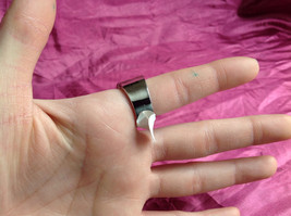 Silver Rhodium CZ Stone Statement Ring Swirl Design Wavy Design On Side Size 8 image 7