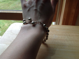 Silver Plated Round Mini Bells Charm Bracelet Lobster Clasp Closure  image 6