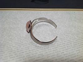 Silver Tone Geo Jewelry Bracelet with Light Pink Stone Oval Shape image 5