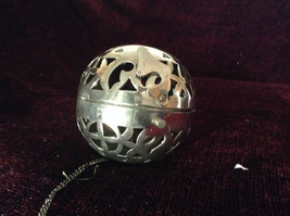 Silver Tone Hanging Ball and Chain Latch Opens Ball image 4