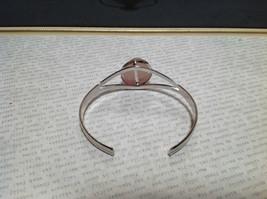 Silver Tone Geo Jewelry Bracelet with Light Pink Stone Oval Shape image 4