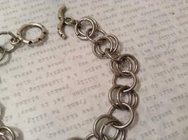 Silver Tone Handmade Steam Punk Ring Bracelet image 4