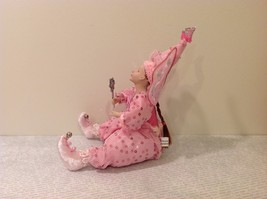 Sitting Pink Fairy Ceramic Face Body Hat Wand Long Hair image 2