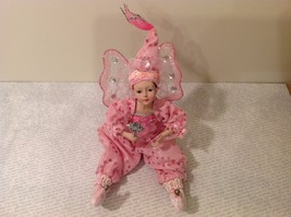 Sitting Pink Fairy Ceramic Face Body Hat Wand Long Hair image 5