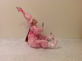 Sitting Pink Fairy Ceramic Face Body Hat Wand Long Hair image 4