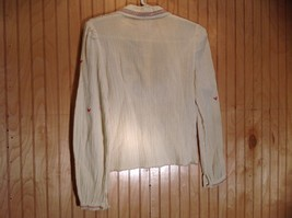 Size 1 Long Sleeve Button Up Off White Shirt Stitched on Designs image 4