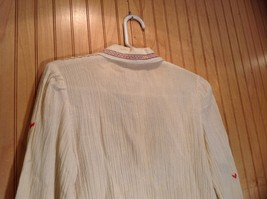 Size 1 Long Sleeve Button Up Off White Shirt Stitched on Designs image 5