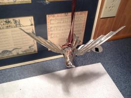Silver Tone Vintage Look Bird Ornament image 3