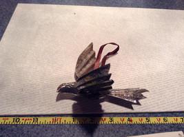 Silver Tone Vintage Look Bird Ornament image 7