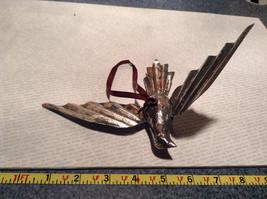 Silver Tone Vintage Look Bird Ornament image 8