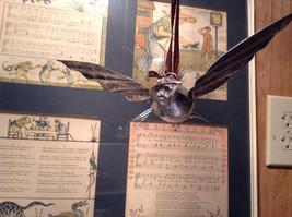 Silver Tone Vintage Look Bird Ornament image 2