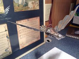 Silver Tone Vintage Look Bird Ornament image 4