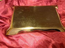 """Silver tone tray 10"""" L x 13""""W stainless steel engraved with quote about love image 4"""