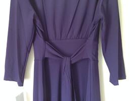 Simple Yet Elegant Three Quarter Length Purple Dress NEW with Tag Size 12 image 6