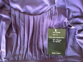 Simple Yet Elegant Three Quarter Length Purple Dress NEW with Tag Size 12 image 8
