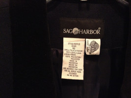 Size 10 Sag Harbor 100 Percent Wool with Polyester Lining Black Blazer image 4