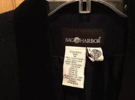 Size 10 Sag Harbor 100 Percent Wool with Polyester Lining Black Blazer image 3