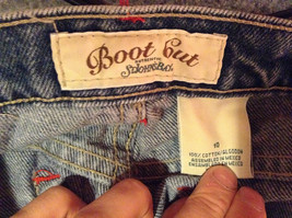 Size 10 St Johns Bay Denim Blue Jeans Boot Cut Great Condition image 7
