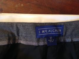 Size 12  Gray  J McLaughlin Dress Pants Made in USA image 6