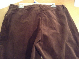 Size 16 Northern Isles Brown Casual Pants 98 Percent Cotton 2 Percent Spandex image 5