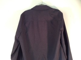 Size Large New York and Company Long Sleeve Button Up Charcoal Black Blouse image 6