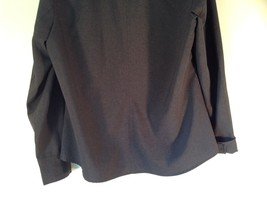 Size Large New York and Company Long Sleeve Button Up Charcoal Black Blouse image 7