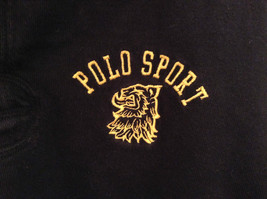 Size L Ralph Lauren Cotton Long Sleeve Black with Yellow Collar and Cuffs image 4