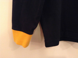 Size L Ralph Lauren Cotton Long Sleeve Black with Yellow Collar and Cuffs image 5