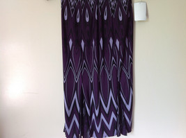 Size 8 NEW with Tag Purple Light Purple and Black Design Dress Zipper image 4