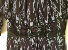 Size 8 NEW with Tag Purple Light Purple and Black Design Dress Zipper image 3
